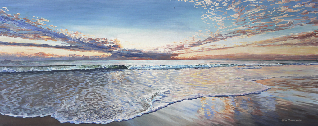 Art oil painting of Cottesloe Beach Sunset by Brian Carew-Hopkins on VooGlue